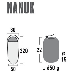 High Peak Nanuk Sovepose, sort